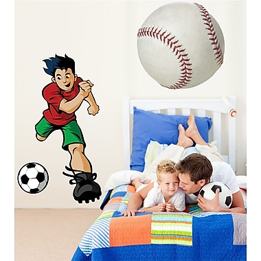Wallhogs Winn Soccer Boy Cutout Wall Decal; 72'' H x 40'' W
