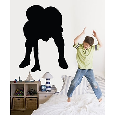 Wallhogs Football Player Stance Silhouette Cutout Wall Decal; 48'' H x 35.5'' W