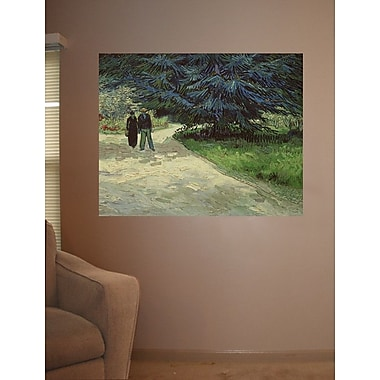 Wallhogs Van Gogh Couple in the Park (1888) Wall Mural; 28.5'' H x 36'' W