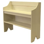 SawdustCity Wood Storage Entryway Bench; Cream