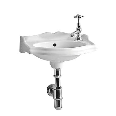 Whitehaus Collection China 14.75'' Wall Mount Bathroom Sink