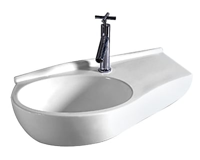 Whitehaus Collection Isabella Vitreous China 24'' Wall Mount Bathroom Sink
