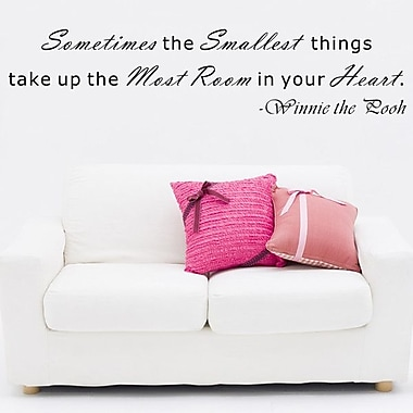 Pop Decors Sometimes the Smallest things take up the Most Room- Winnie the Pooh Wall Decal