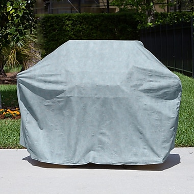 BudgeIndustries All-Seasons 65'' BBQ Grill Cover w/ Shelves; Blue