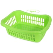 YBM Home Plastic Storage Basket (Set of 3); Green