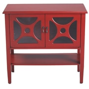 Heather Ann 2 Door Console Acccent Cabinet; Red