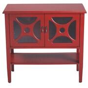 Heather Ann 2 Door Console Cabinet; Red