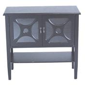 Heather Ann 2 Door Console Cabinet; Black