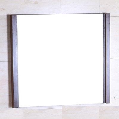 Bellaterra Home Wood Frame Mirror; 26'' H x 30'' W x 2'' D