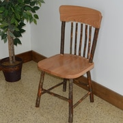 A&L Furniture Hickory Solid Wood Dining Chair; Natural