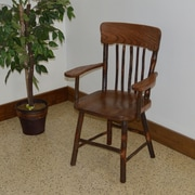 A&L Furniture Hickory Solid Wood Dining Chair; Walnut