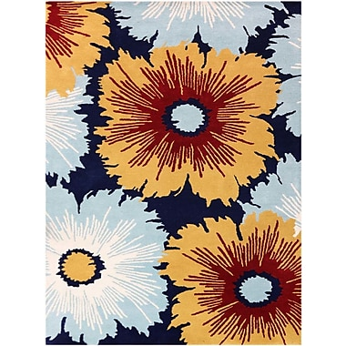 AMER Rugs Bombay Hand-Tufted Navy Area Rug; Rectangle 5' x 8'