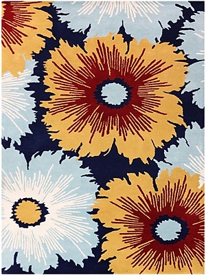 AMER Rugs Bombay Hand-Tufted Navy Area Rug; Rectangle 3'6'' x 5'6''