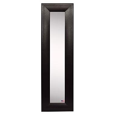 Rayne Mirrors Molly Dawn American Made Espresso Leather Wall Mirror; 32.75'' H x 11.75'' W x 1'' D