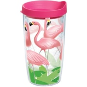 Tervis Tumbler Sun and Surf Lawn Flamingos 16 Oz. Tumbler w/ Lid