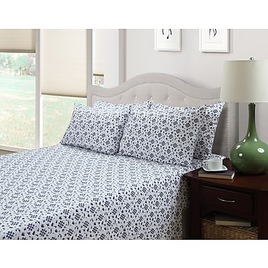214 West Ditsy Floral Emma 300 Thread Count Cotton 3 Piece Sheet Set; Full