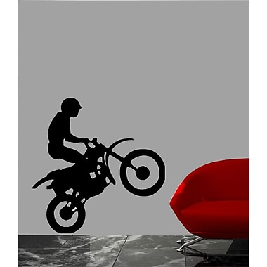 Wallhogs Motocross Silhouette Cutout Wall Decal; 36'' H x 35.5'' W