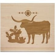 Martins Homewares Go West Long Horn Carve & Serve Board