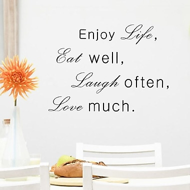 Pop Decors Enjoy Life Eat Well Laugh Often Love Much Wall Decal