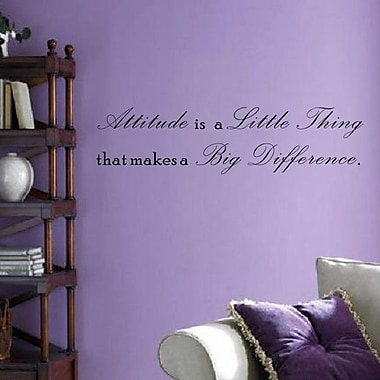 Pop Decors Attitude is a Little Thing That Makes a Big Diference Wall Decal