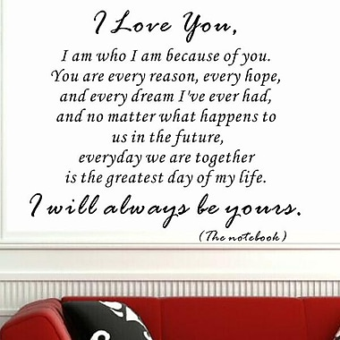 Pop Decors I Am Who I Am Because of You Wall Decal