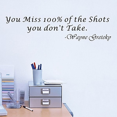 Pop Decors You Miss 100pct of the Shots Wall Decal