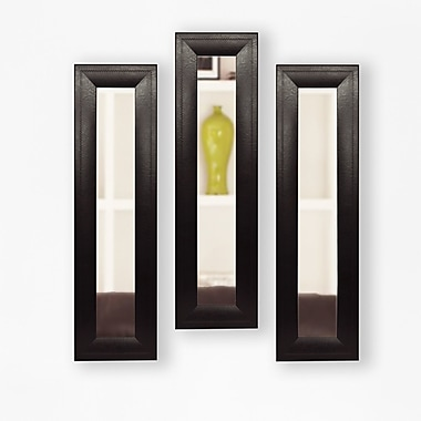 Rayne Mirrors Molly Dawn Mirror Panel (Set of 3); 25.75 H x 9.75 W