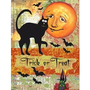 Caroline's Treasures Halloween Trick Or Treat Moon Vertical Flag