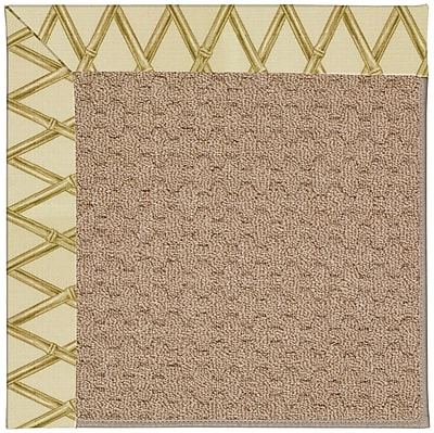 Capel Zoe Grassy Mountain Machine Tufted Bamboo and Beige Indoor/Outdoor Area Rug; Square 8'