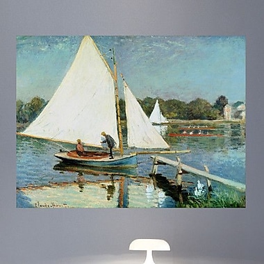 Wallhogs Monet Sailing at Argenteuil (1874) Poster Wall Mural; 18'' H x 24'' W