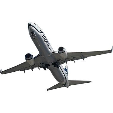 Wallhogs Chibi Alaska Air 737 Flyover Cutout Wall Decal; 29'' H x 48'' W