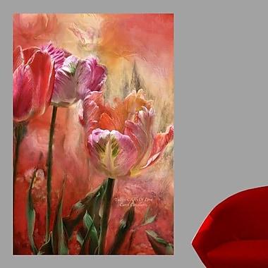 Wallhogs Cavalaris Tulips-Colors of Love Wall Mural; 24'' H x 16'' W