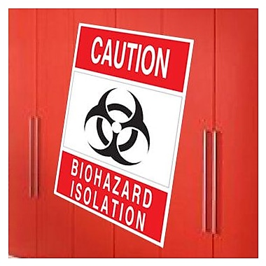 Wallhogs Biohazard Isolation Sign Wall Decal; 48'' H x 32.5'' W