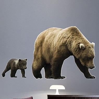 Wallhogs Mama and Baby Cub Cutout Wall Decal; 20'' H x 36'' W