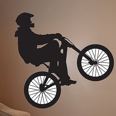 Wallhogs BMX Silhouette I Cutout Wall Decal; 45.5'' H x 48'' W