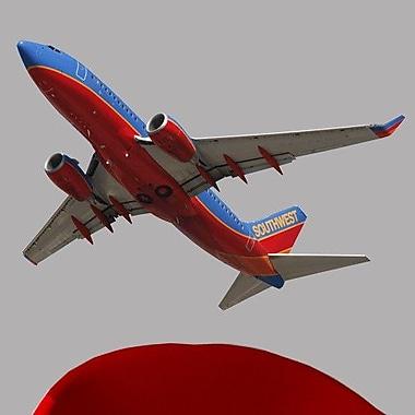 Wallhogs Chibi Southwest 737 Flyover Cutout Wall Decal; 33'' H x 48'' W