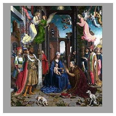 Wallhogs Gossaert Adoration of The Kings Wall Mural; 48'' H x 43.5'' W