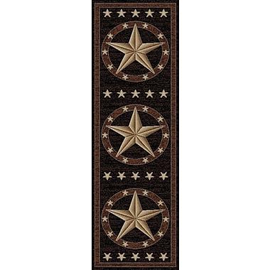 Mayberry Rug Hearthside Western Star Ebony Area Rug; Runner 2'2'' x 7'7''