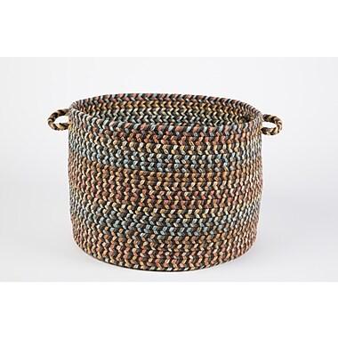 Wildon Home Brenda Basket; Brown Velvet
