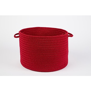 Wildon Home Brenda-Lee Basket; Brilliant Red