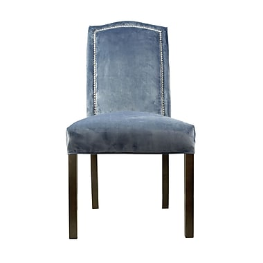 Sole Designs Kacey Star Parsons Chair (Set of 2); Steel Blue