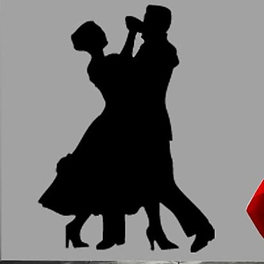 Wallhogs Couple Dancing Silhouette Cutout Wall Decal; 48'' H x 34.5'' W