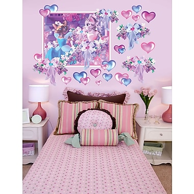Wallhogs Princess Cats III Wall Decal; 48'' H x 72'' W