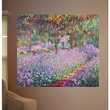 Wallhogs Monet The Artist's Garden at Giverny (1900) Poster Wall Mural; 32'' H x 36'' W