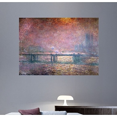 Wallhogs Monet The Thames at Charing Cross (1903) Poster Wall Mural; 26'' H x 36'' W