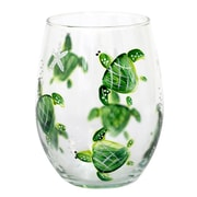 Pat Barker Designs Turtle 21 Oz. Stemless Wine Glass