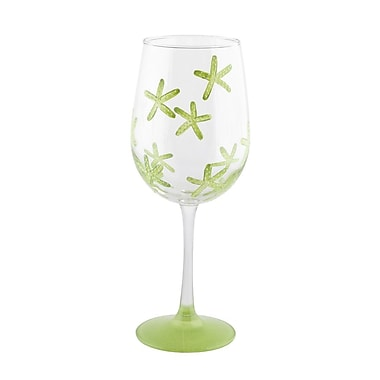 Pat Barker Designs Starfish Wine Glass; Green