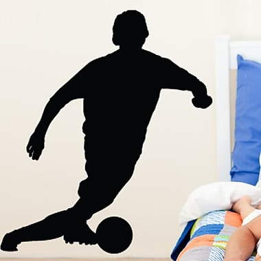 Wallhogs Soccer V Silhouette Cutout Wall Decal; 48'' H x 42'' W