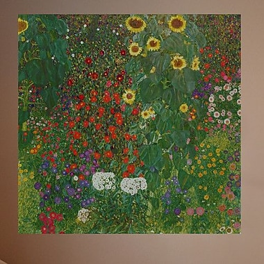 Wallhogs Klimt Farm Garden w/ Flowers (1906) Wall Mural; 47'' H x 48'' W