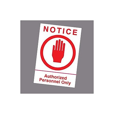 Wallhogs Authorized Personnel Sign Wall Decal; 24'' H x 16'' W